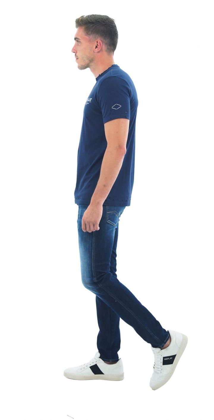 ג'ינס ANBASS HYPERFLEX SLIM משופשף גברים