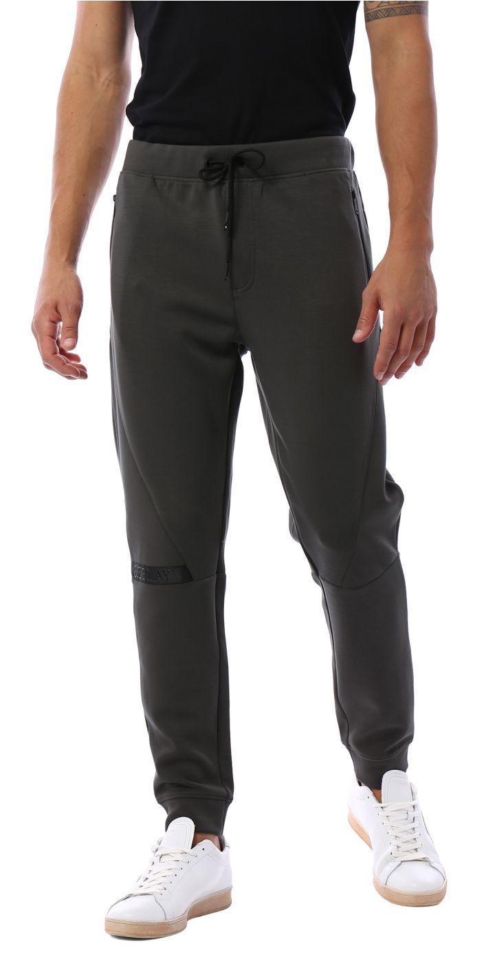 מכנסי טרנינג פס לוגו ברגל גברים