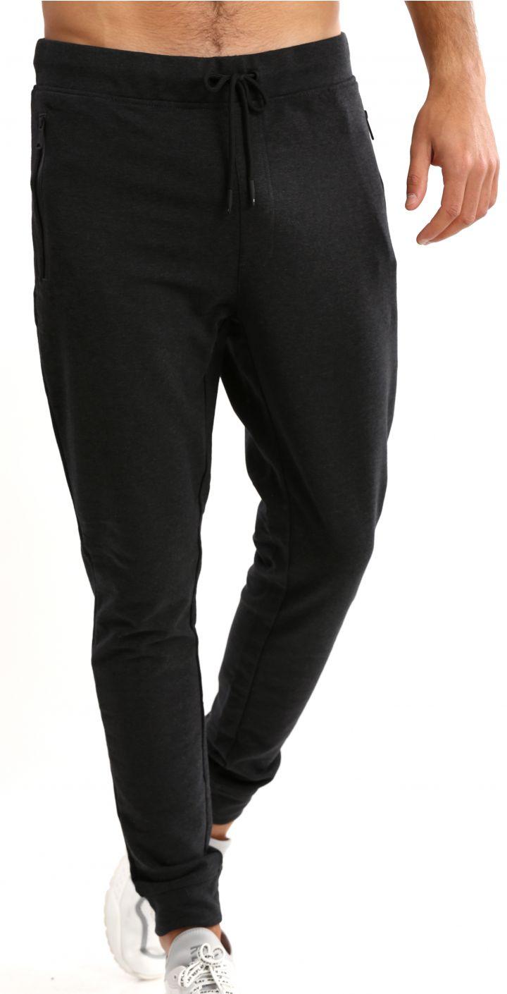 מכנסי טרנינג לוגו ברגל שמאל גברים