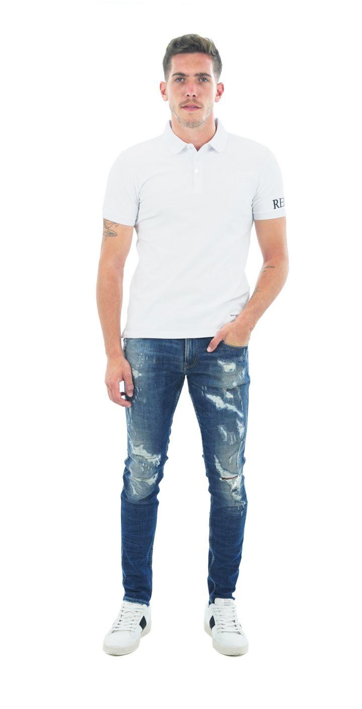 פולו פיקה קצר לוגו בשרוול גברים