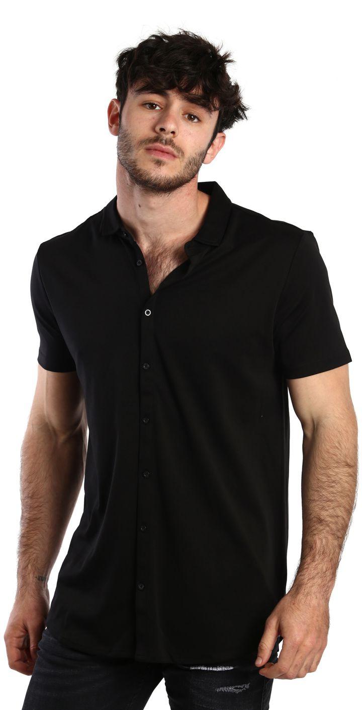 חולצה מכופתרת קצרה גברים