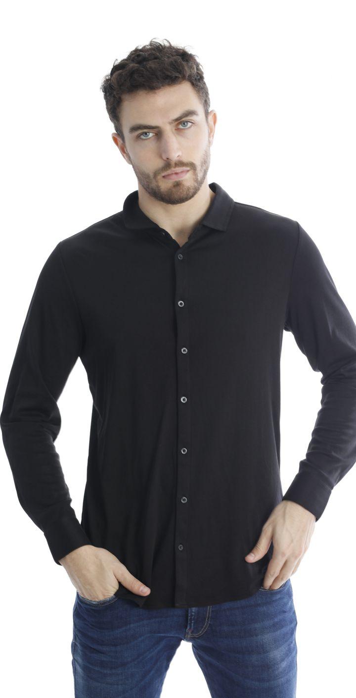 חולצה מכופתרת ארוכה גברים