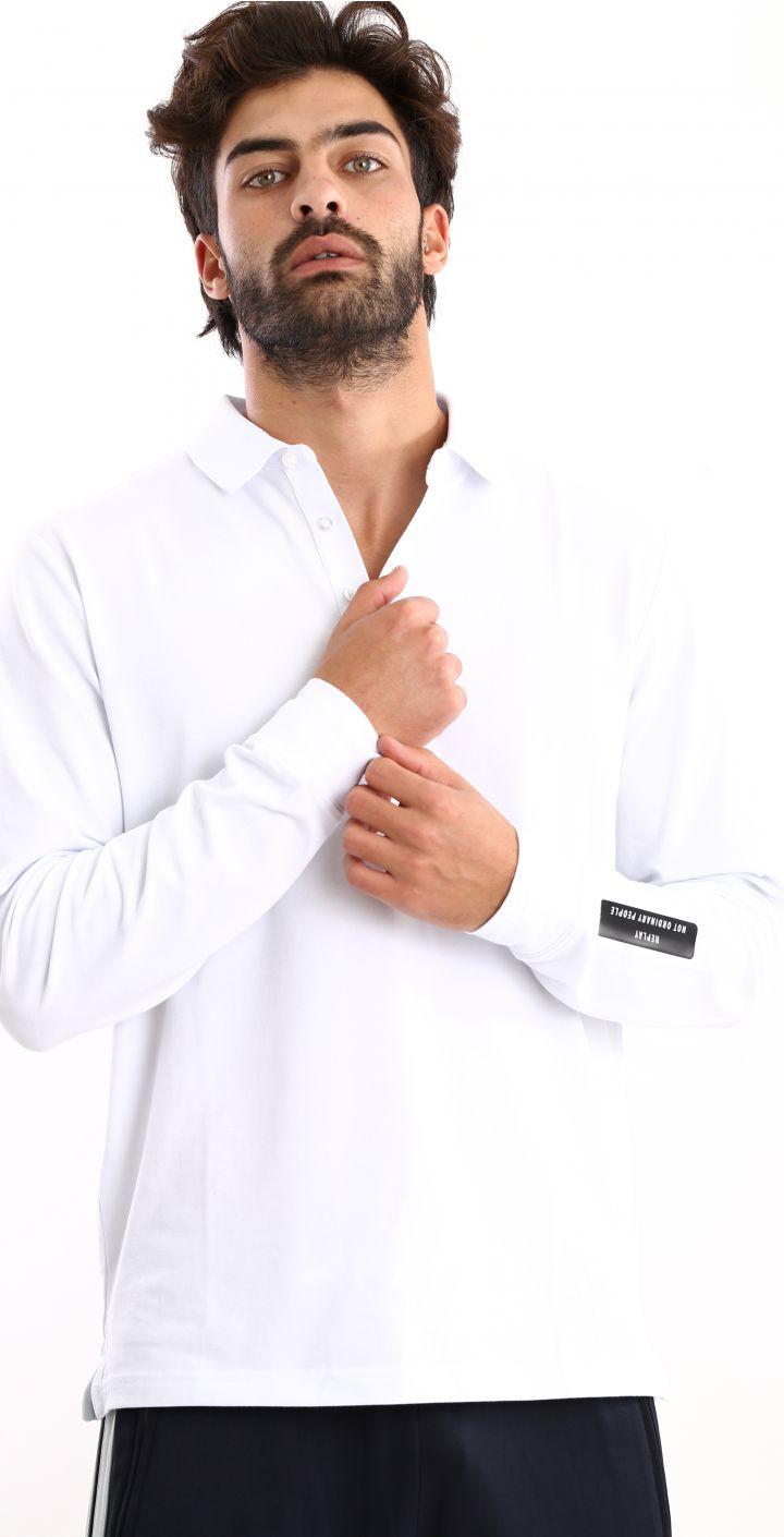 פולו פיקה מכנסי טרנינג לוגו בשרוול גברים