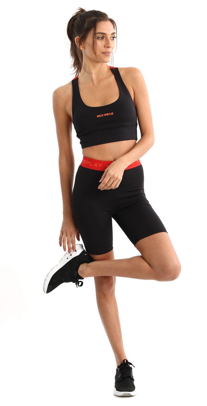 גוזיית ספורט אבזם לוגו כוכבים נשים