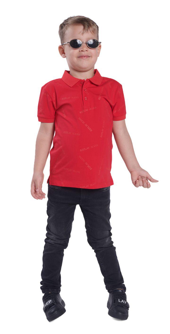 חולצה פולו פיקה אול אובר לוגו ילדים