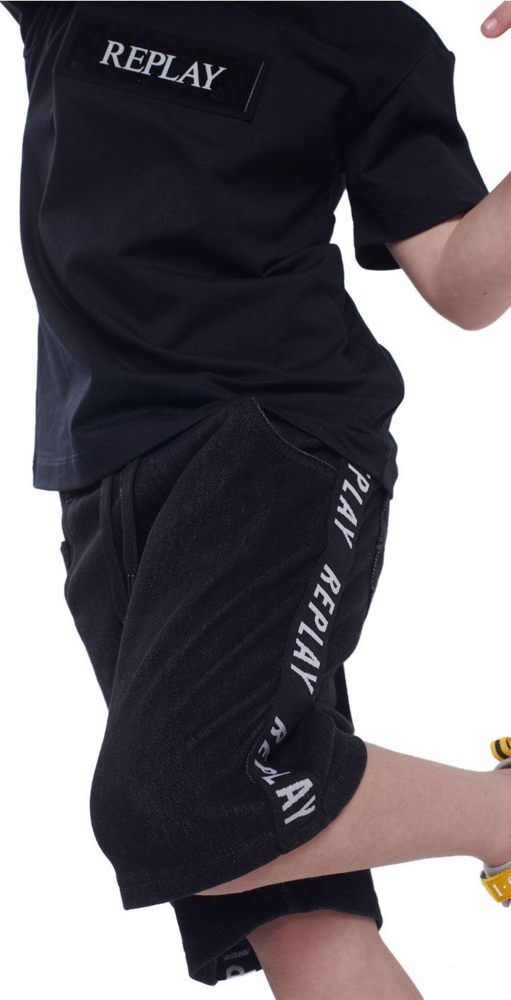 מכנסיים לוגו בצדדים ילדים