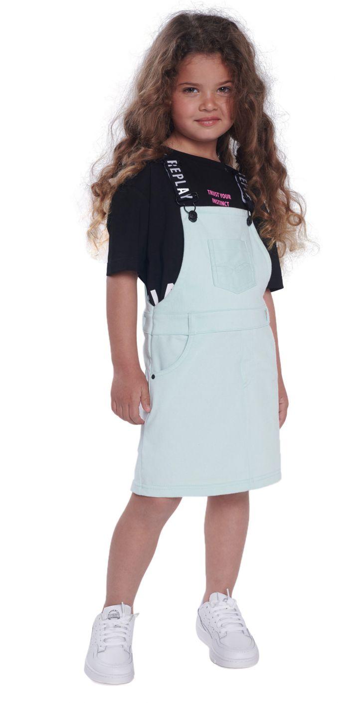 שמלה עם לוגו בכתפיות ילדים