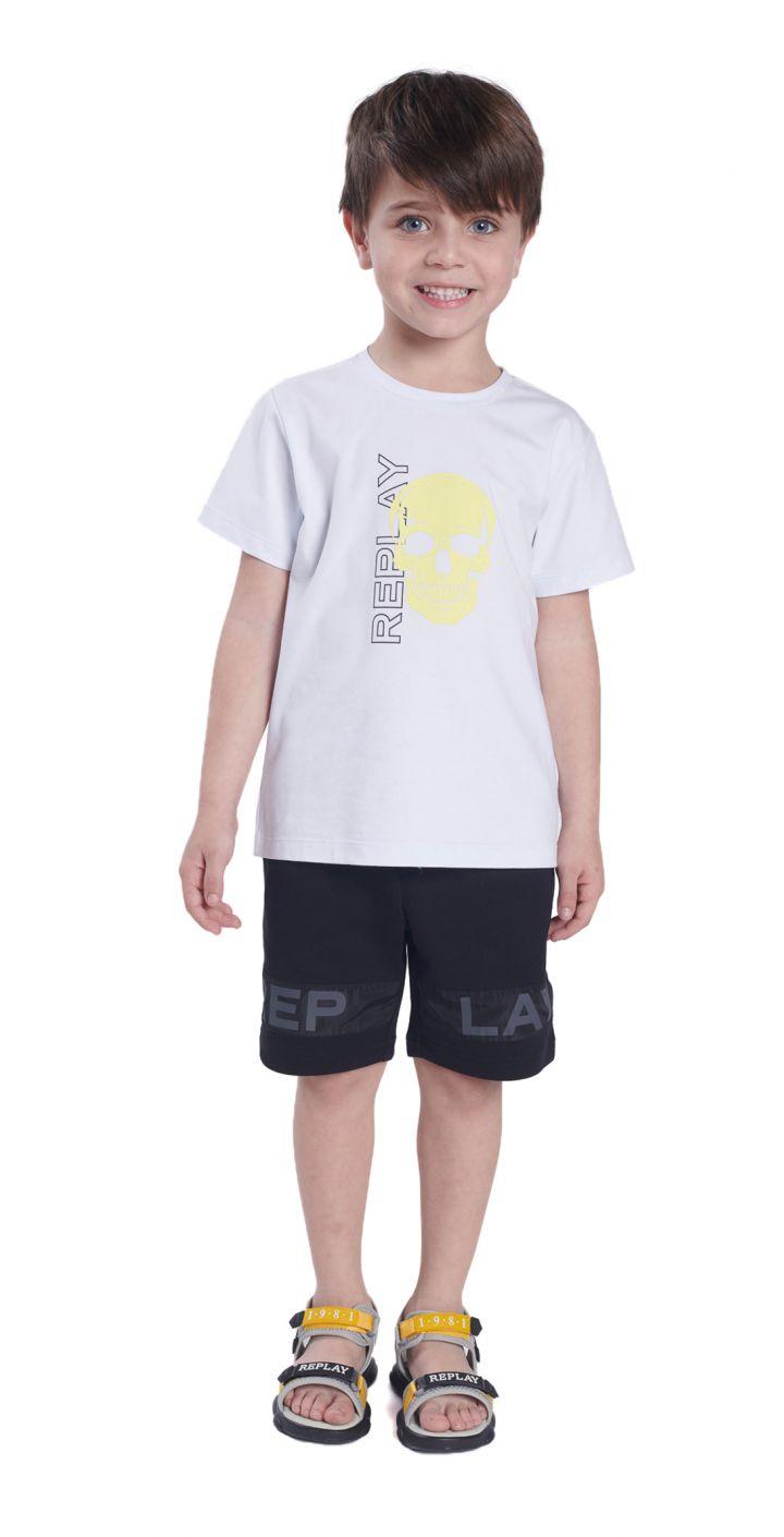 חולצה טי שירט קצר לייקרה הדפס תמונה ילדים