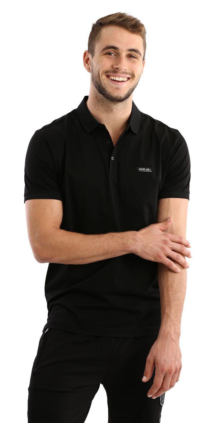 פולו מרצרייז קצר לוגו קטן בחזה גברים