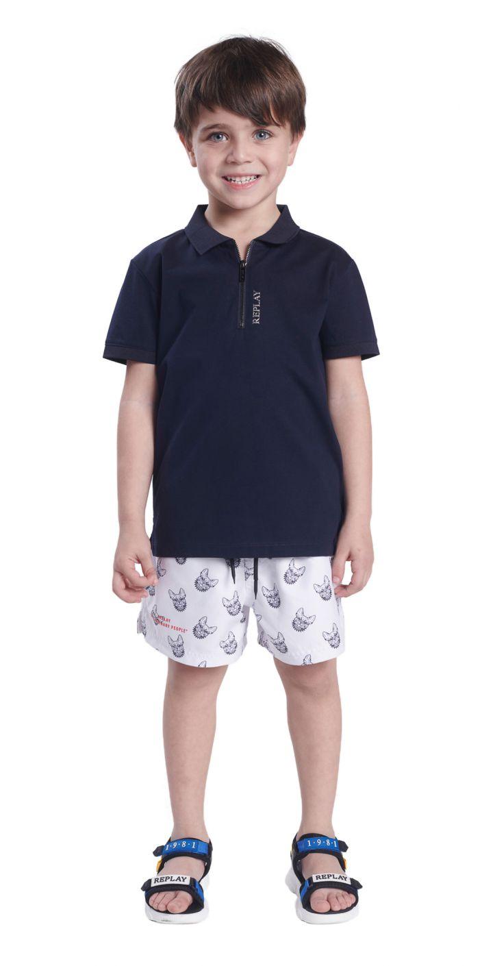 בגד ים עם הדפס ילדים