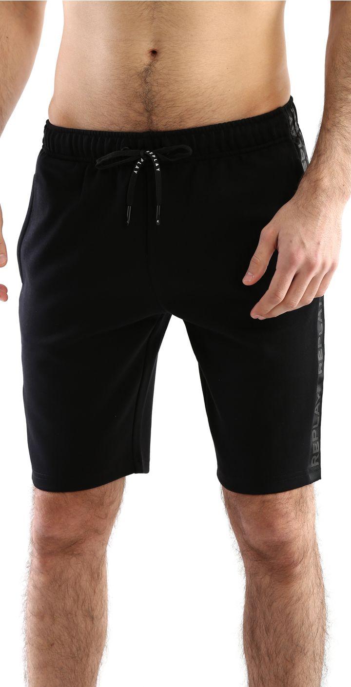 מכנסי פרנץ' טרי פס לוגו בצדדים גברים