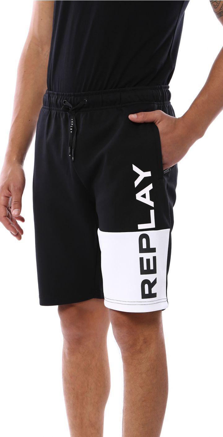 מכנסי פרנץ' טרי לוגו גדול רגל שמאל גברים
