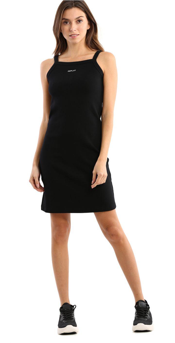 שמלת לוגו קטן בחזה נשים