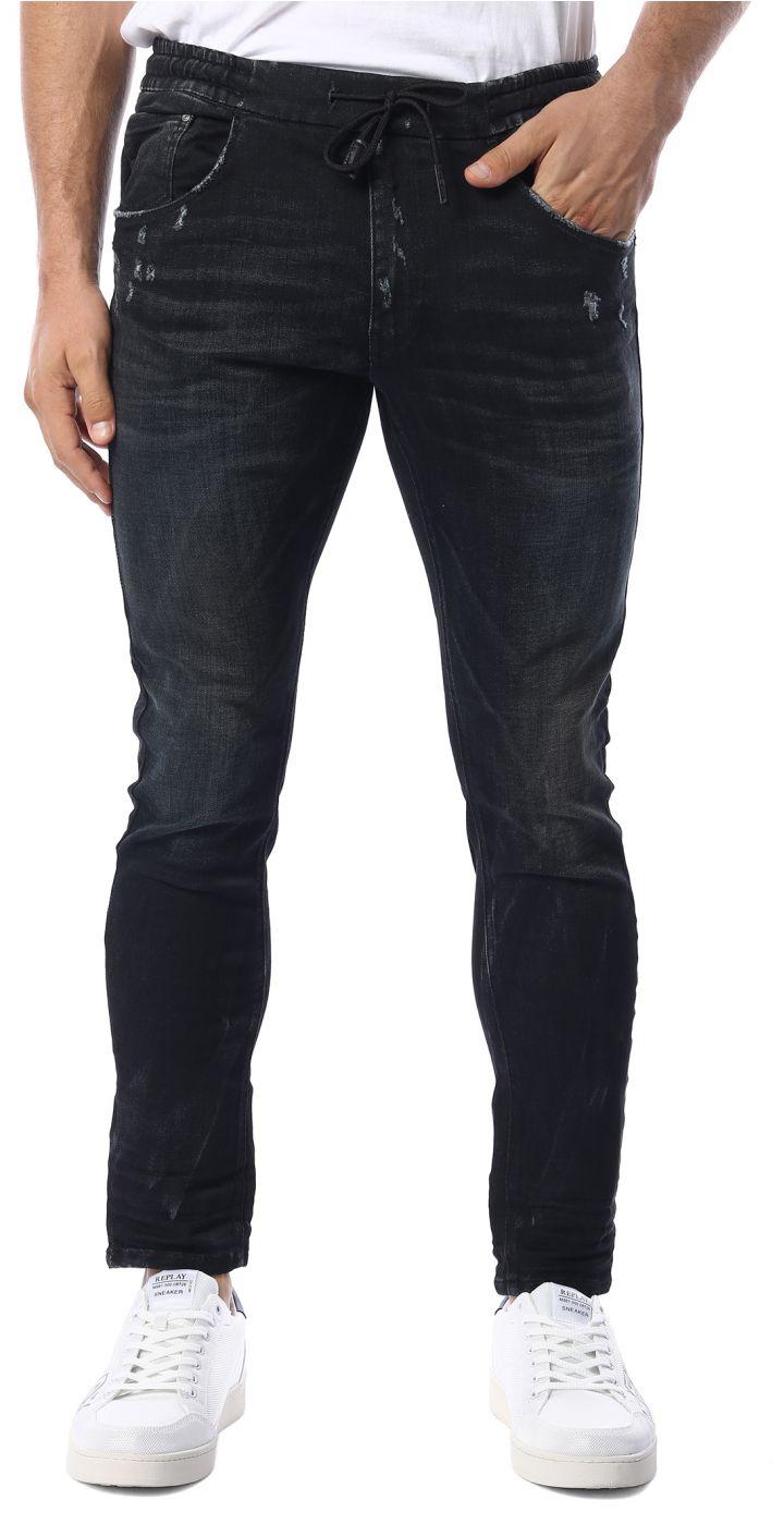 ג'ינס MILANO ANTIFIT SUPER SLIM משופשף גברים
