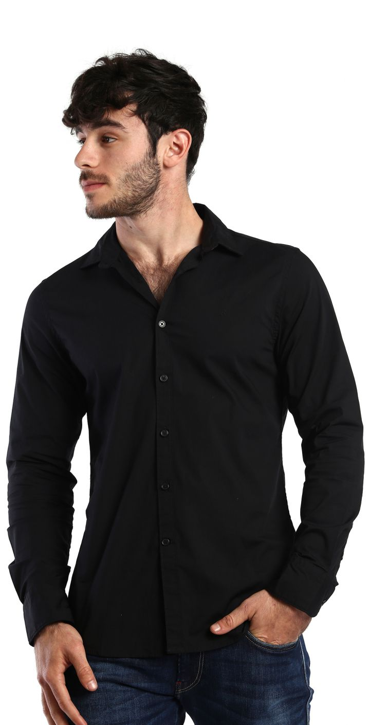 חולצה מכופתרת SLIM FIT בייסיק גברים