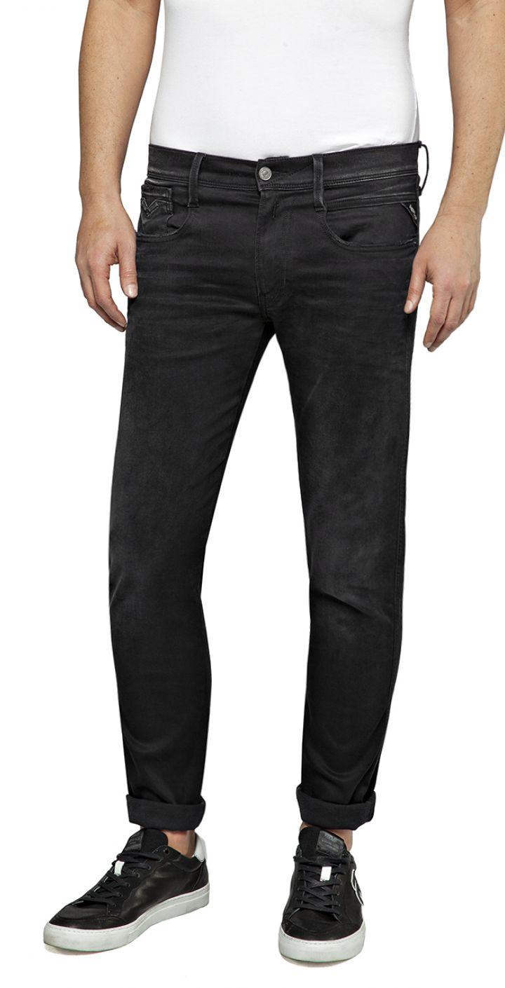 ג'ינס ANBASS HYPERFLEX SLIM חלק גברים