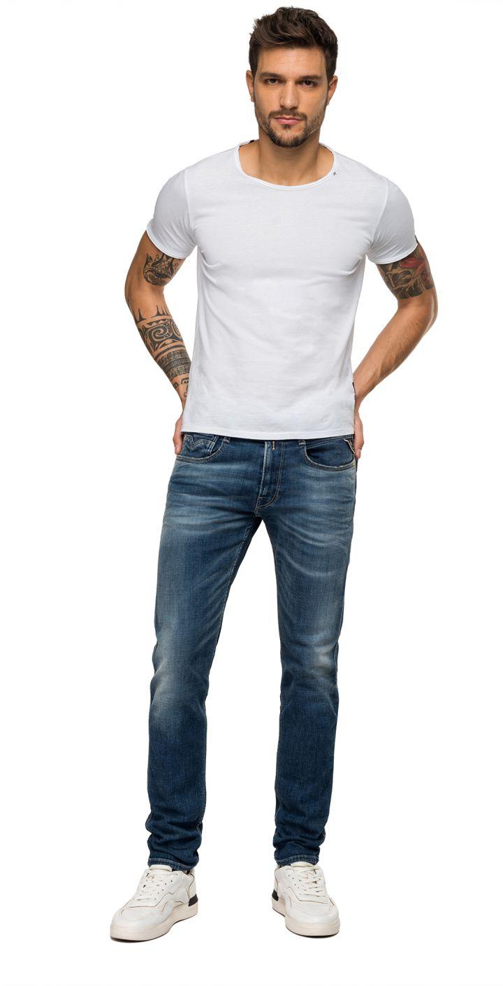 ג'ינס ANBASS SLIM משופשף גברים