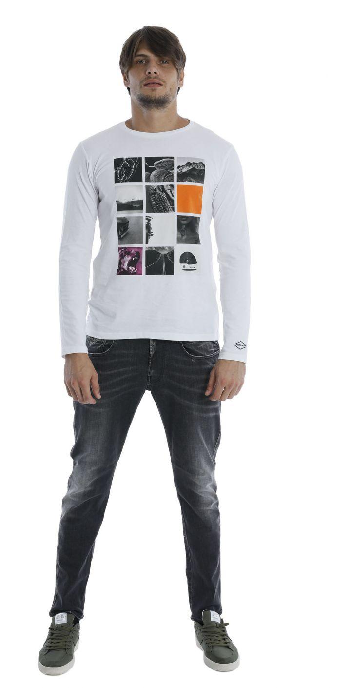 ג'ינס ANBASS SLIM שטיפה בהירה גברים