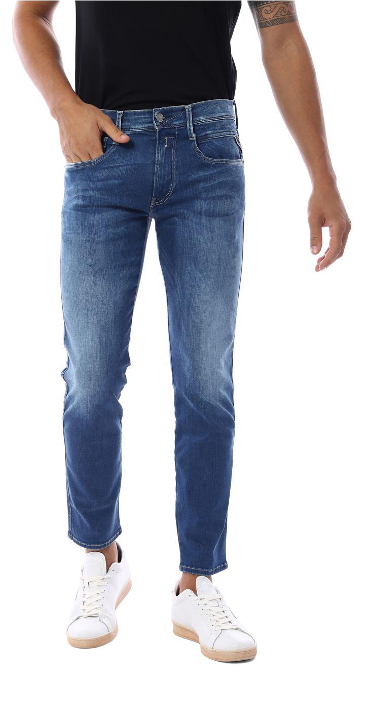ג'ינס ANBASS SKIM משופשף גברים