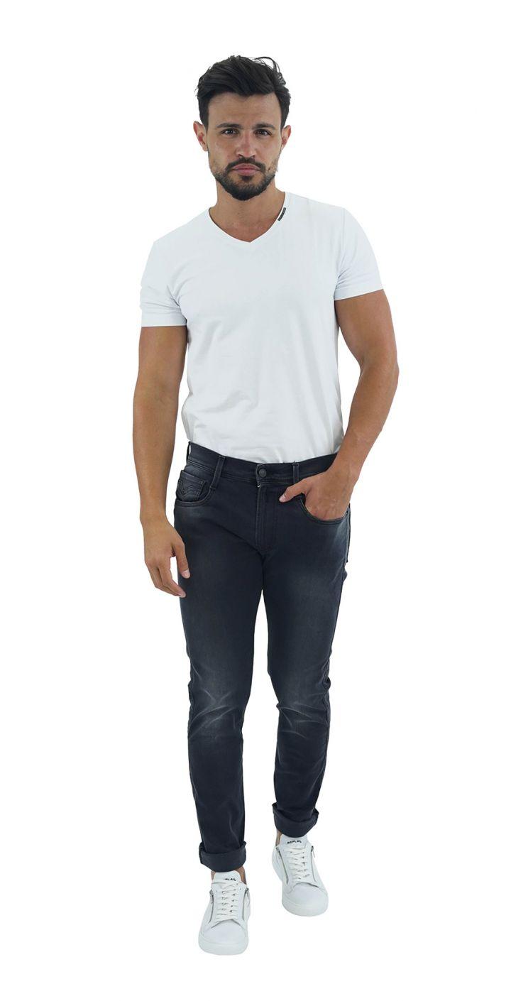 ג'ינס ANBASS HYPERFLEX SLIM שטיפה עדינה גברים