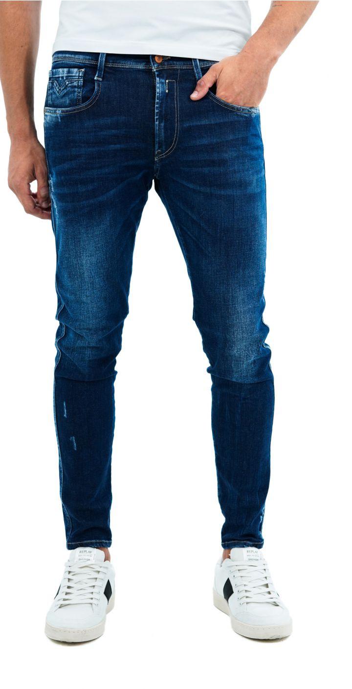 ג'ינס BRONNY SUPER SLIM נגיעות קרעים קטנות גברים