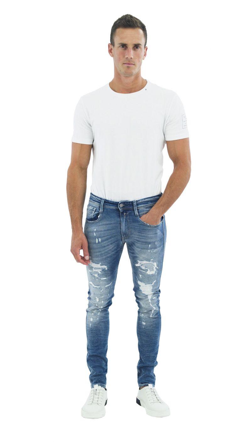 ג'ינס BRONNY SUPER SLIM קרעים גברים