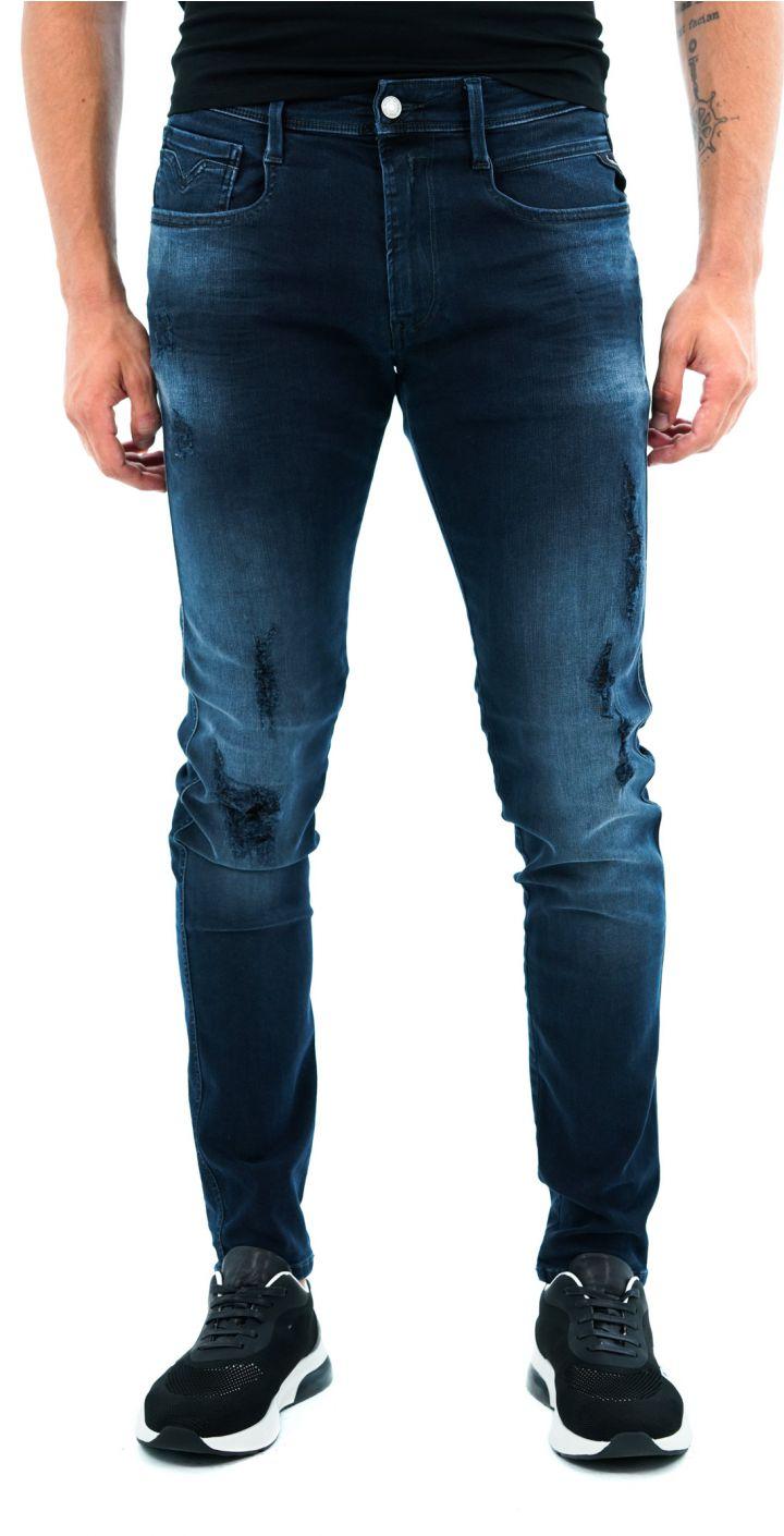 ג'ינס BRONNY SUPER SLIM קרעים שחורים גברים