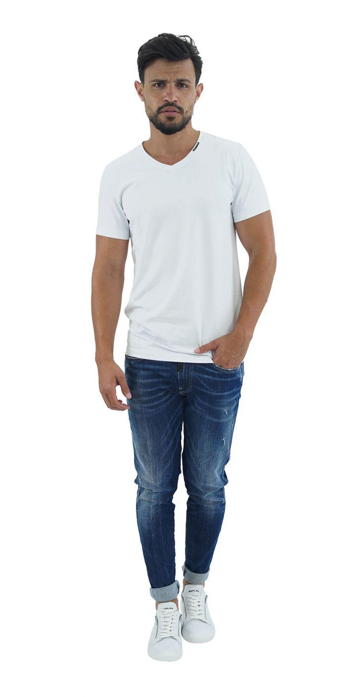ג'ינס BRONNY SUPER SLIM עם עורית ברוכסן גברים