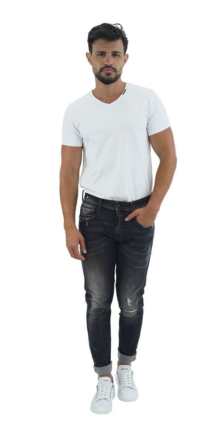 ג'ינס BRONNY SUPER SLIM קרע בברך גברים