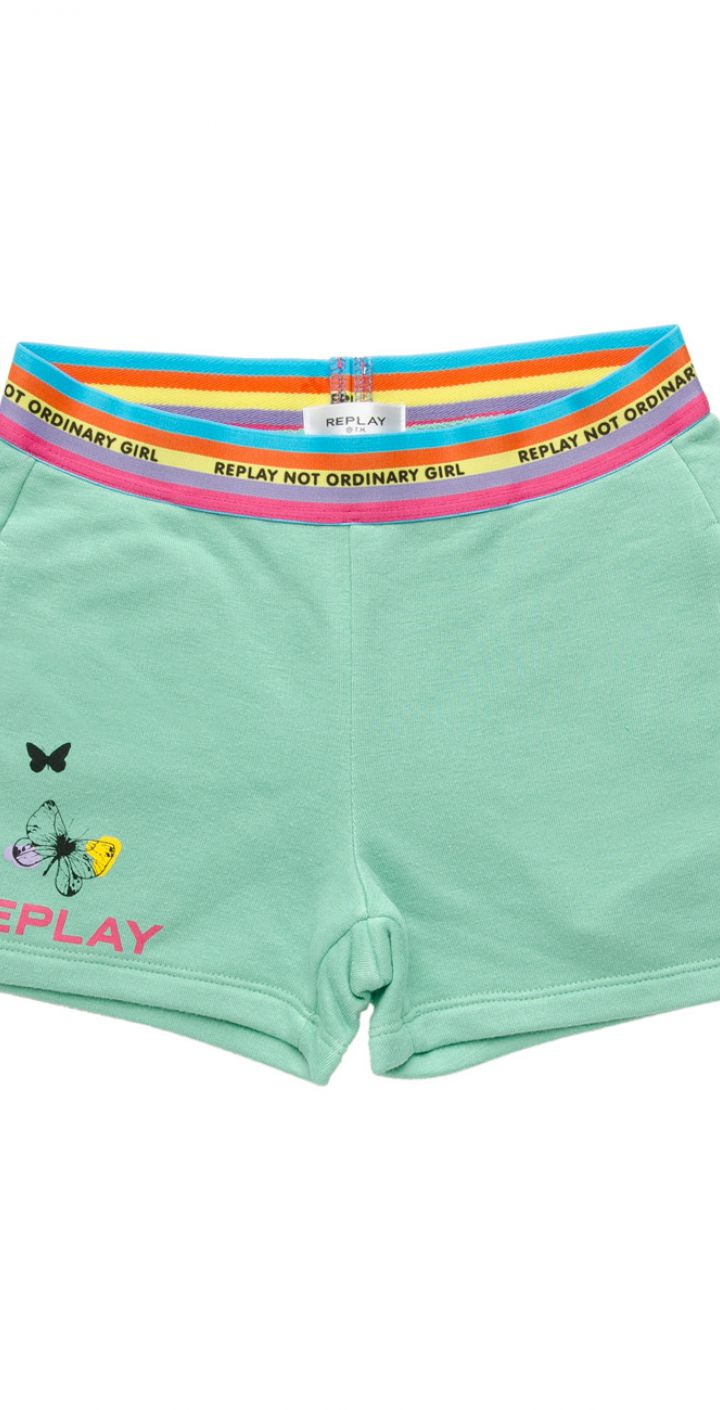 מכנסיים קצרים עם לוגו ילדים