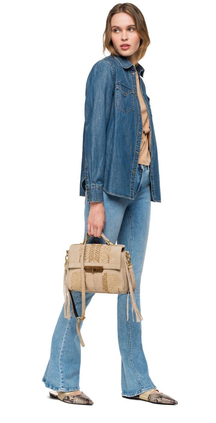 חולצה מכופתרת ג'ינס SLIMFIT נשים