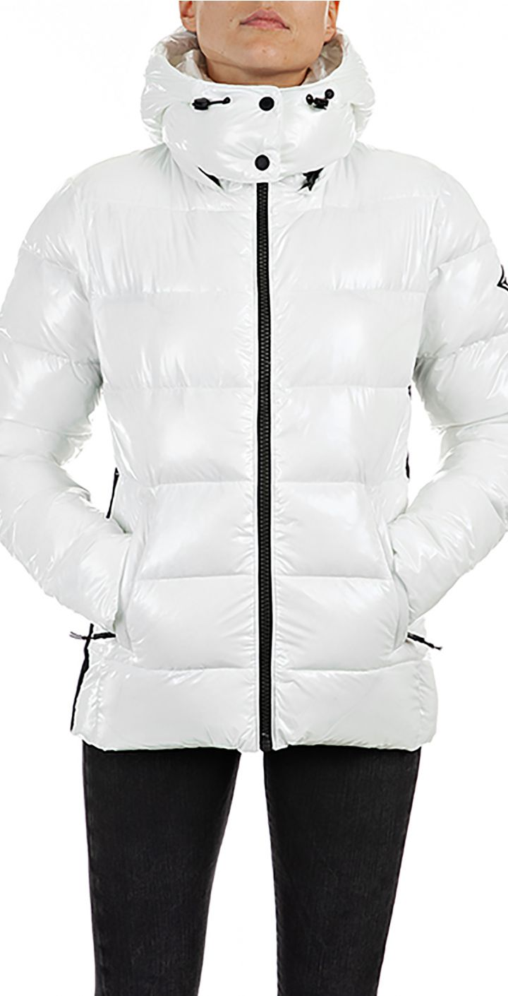 מעיל פוך עם חם צוואר נשים