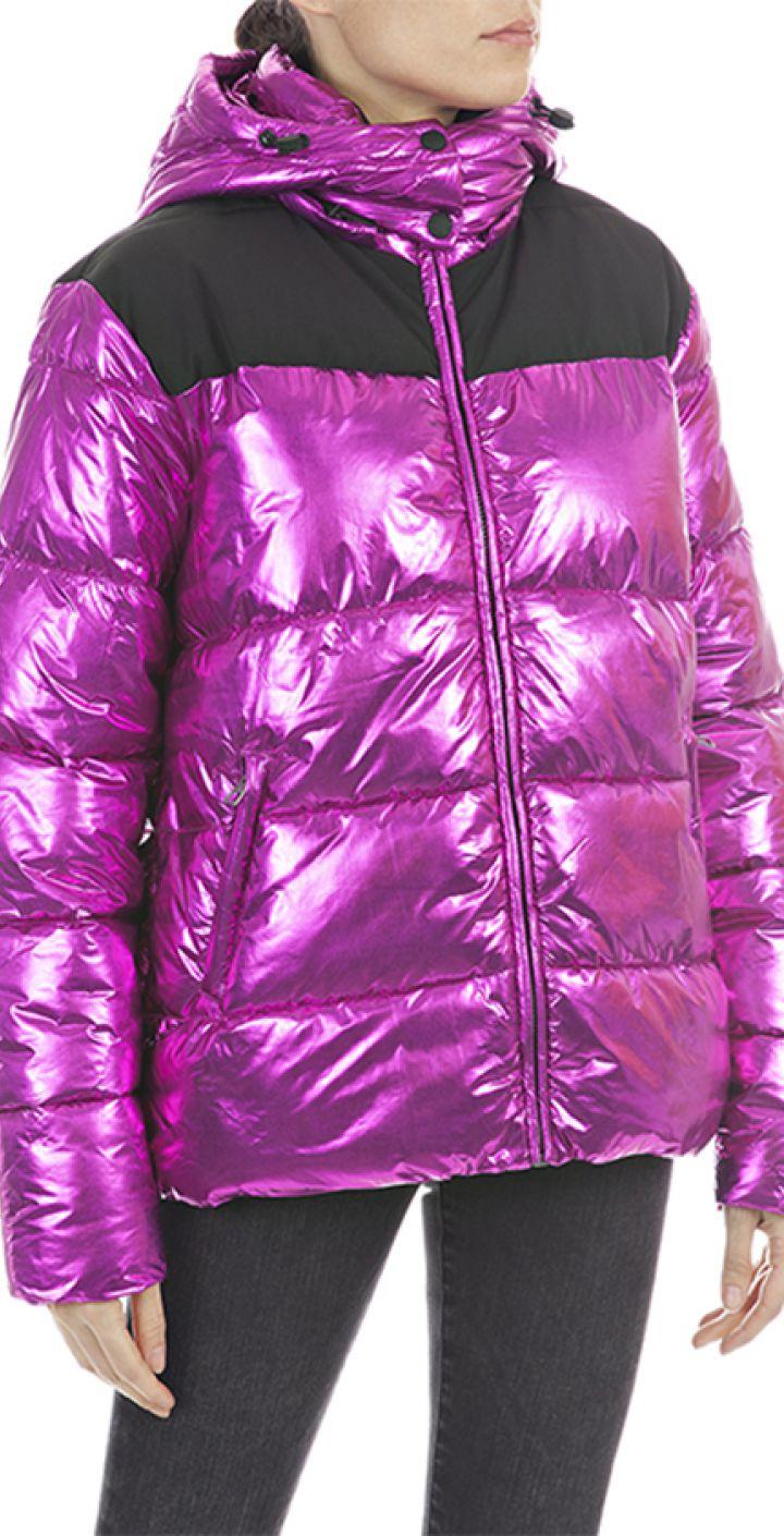 מעיל פוך קפוצ'ון+חם צוואר נשים