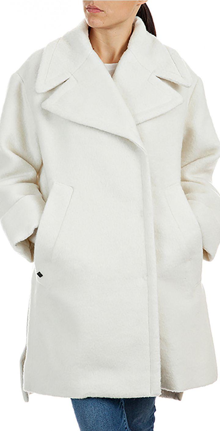 מעיל אוברסייז מצמר נשים