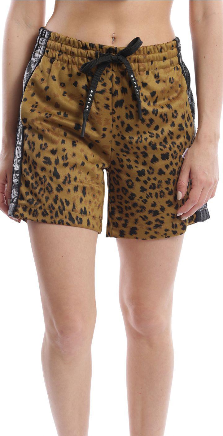 מכנסיים קצר לוגו קטן נשים