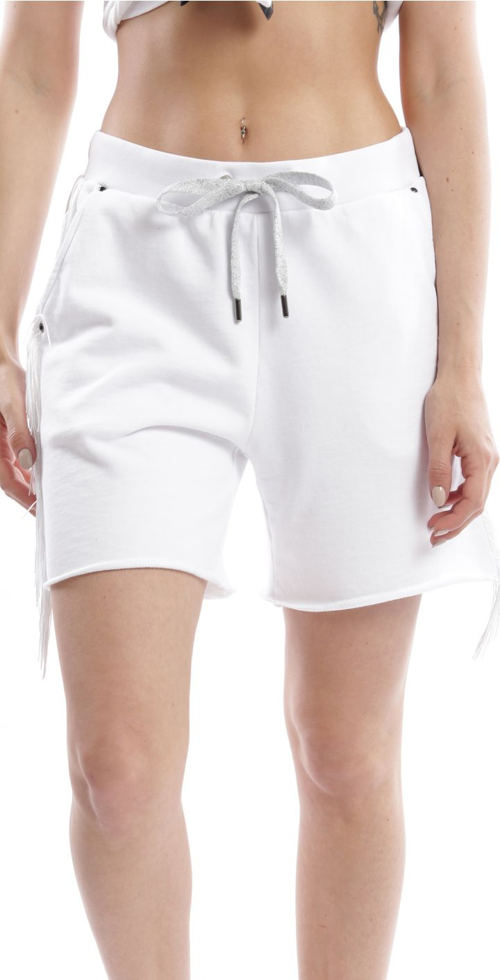 מכנסיים קצרים שרוך וכיס אחורי נשים