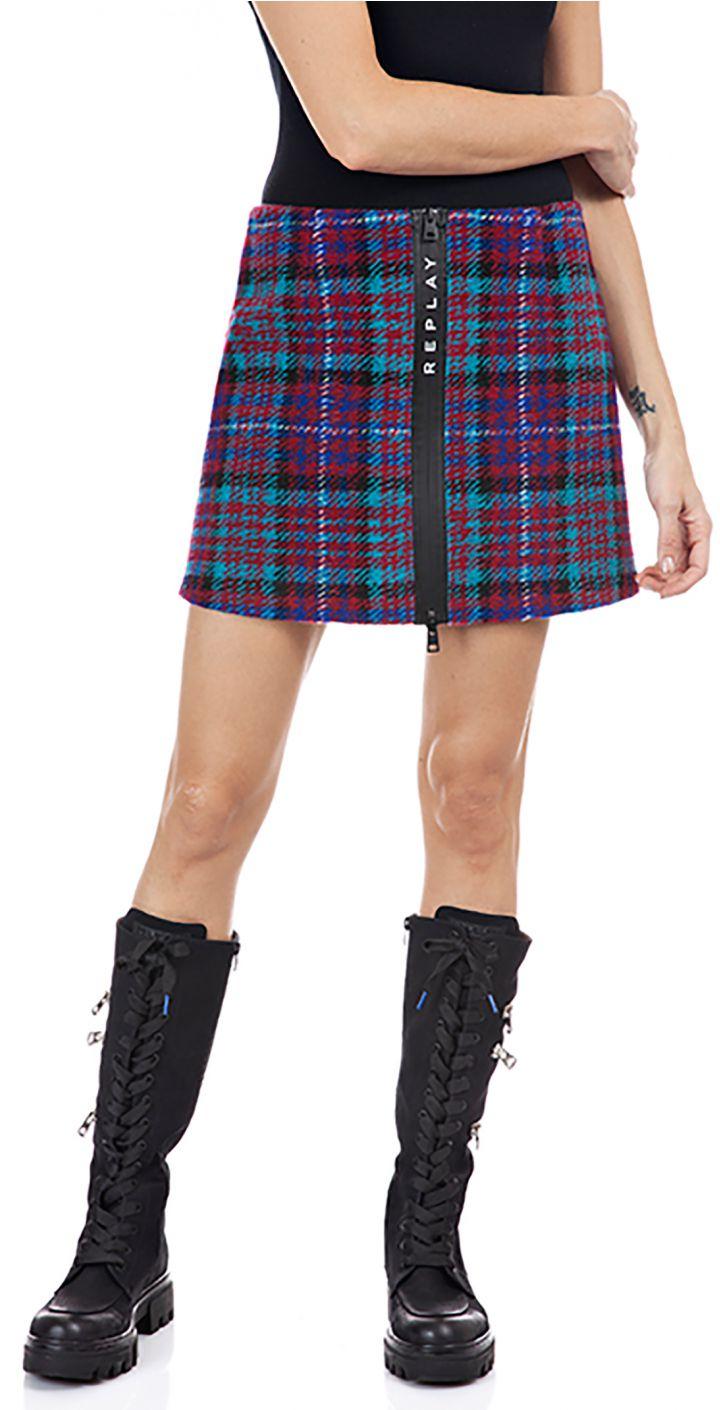 חצאית עם לוגו ברוכסן נשים