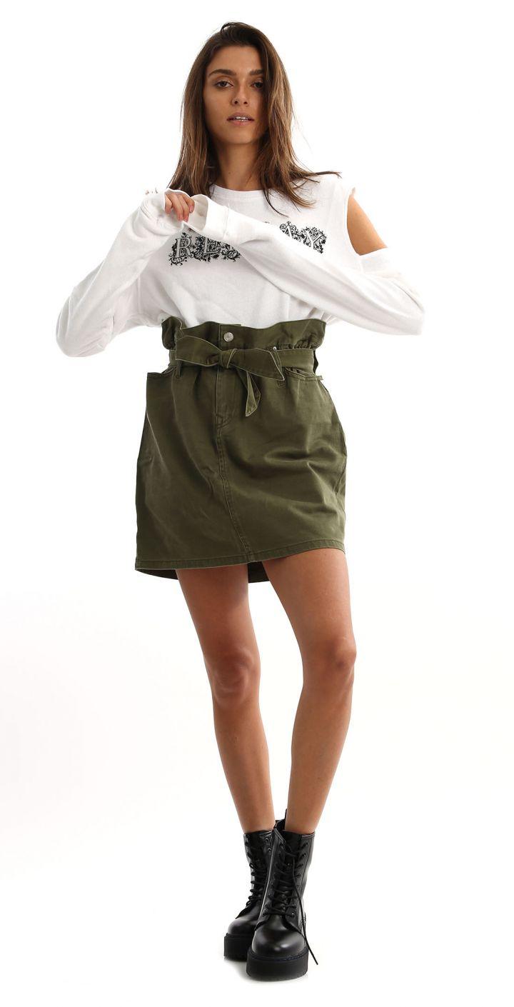 חצאית מיני צבאית נשים