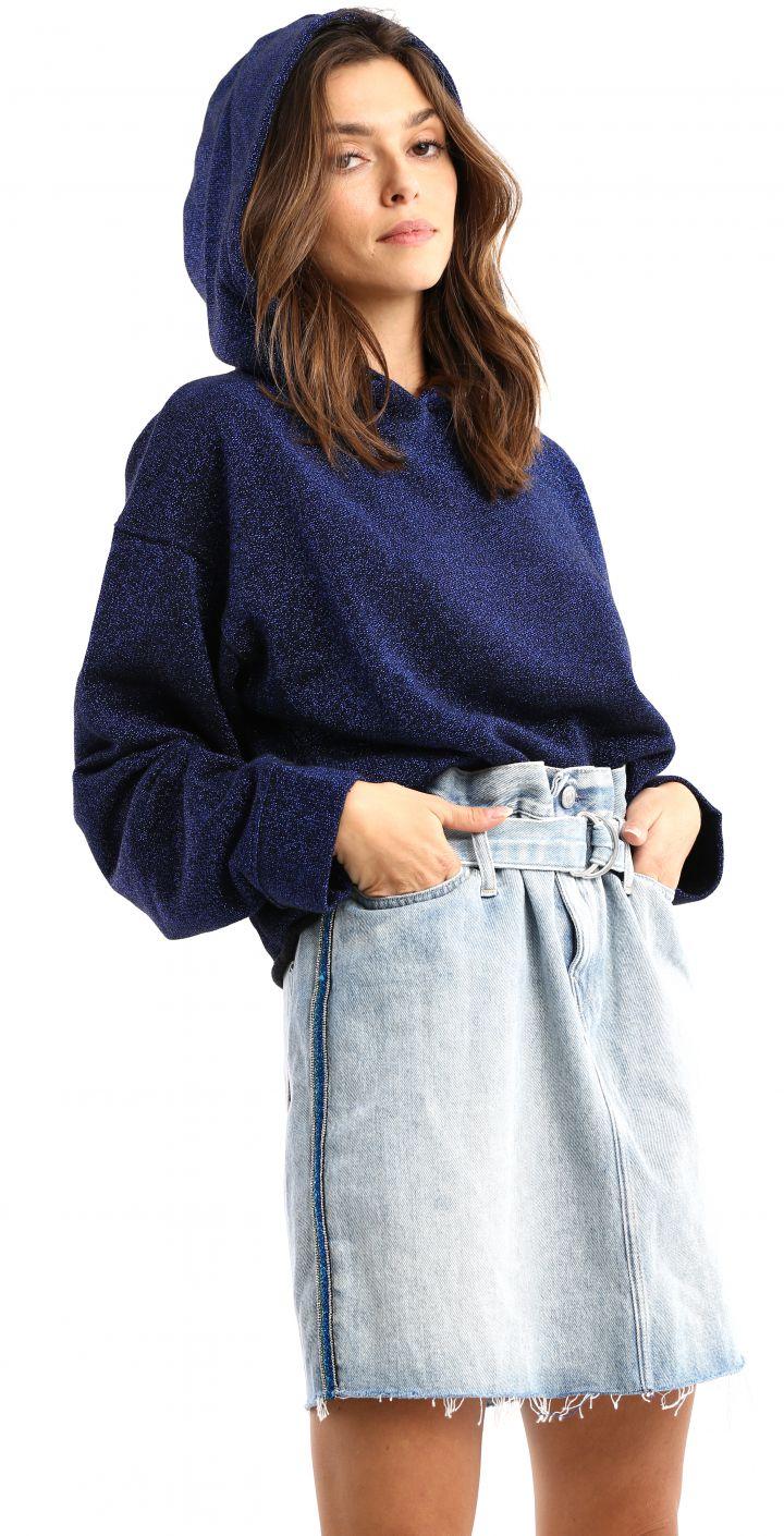חצאית גינס עם חגורה