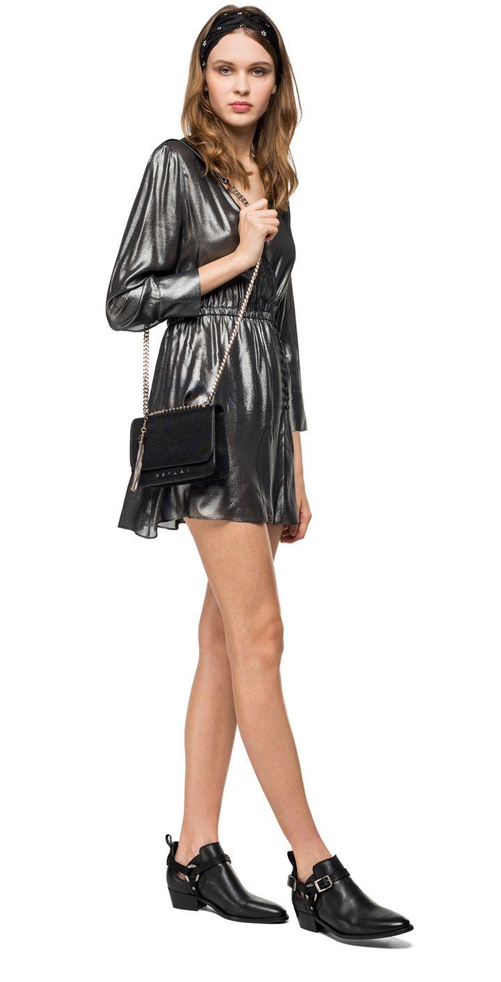 שמלה מטאלי נשים