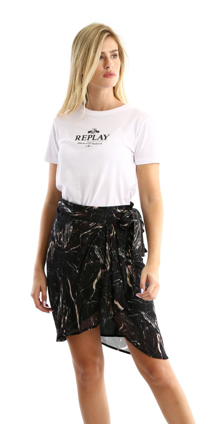 חצאית מעטפת עם הדפס נשים