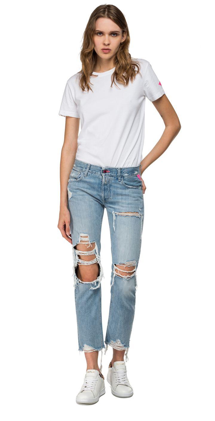 ג'ינס עם קרעים נשים