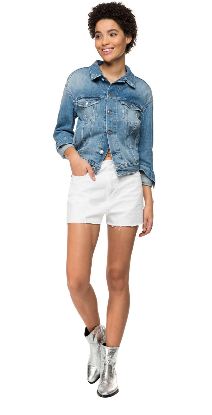 שורט ג'ינס גבוה נשים
