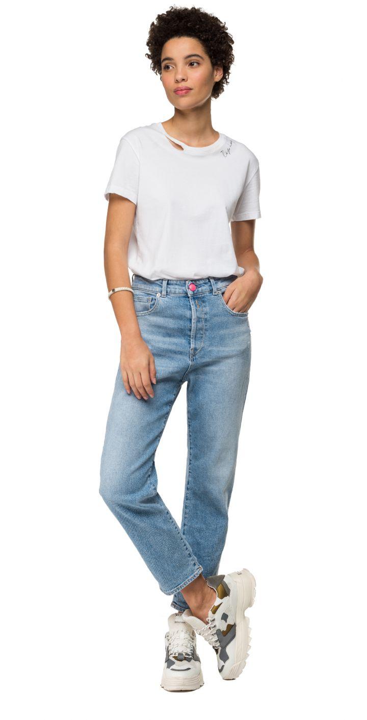 ג'ינס TYNA רחב משופשף נשים