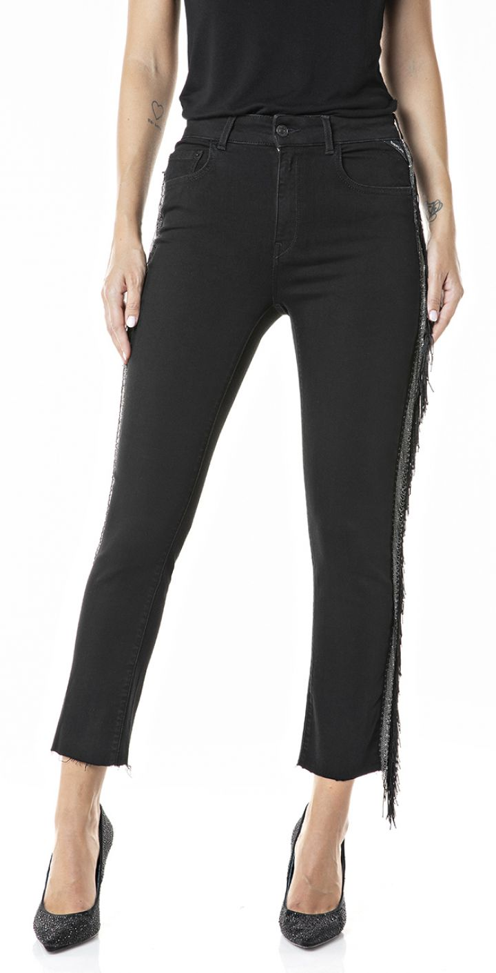 ג'ינס עם פרנזים בצדדים נשים